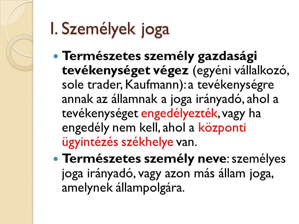 Jogi személyek és letelepedés szabadsága EUMSZ 49 és 54.