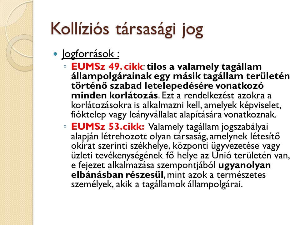 Jogi személyek székhely-áthelyezése Cartesio-ügy Előzetes döntéshozatal (2008), Szegedi Ítélőtábla k.
