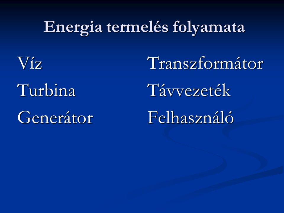 Turbinák típusai Reakciós turbina Szabad sugaras turbina