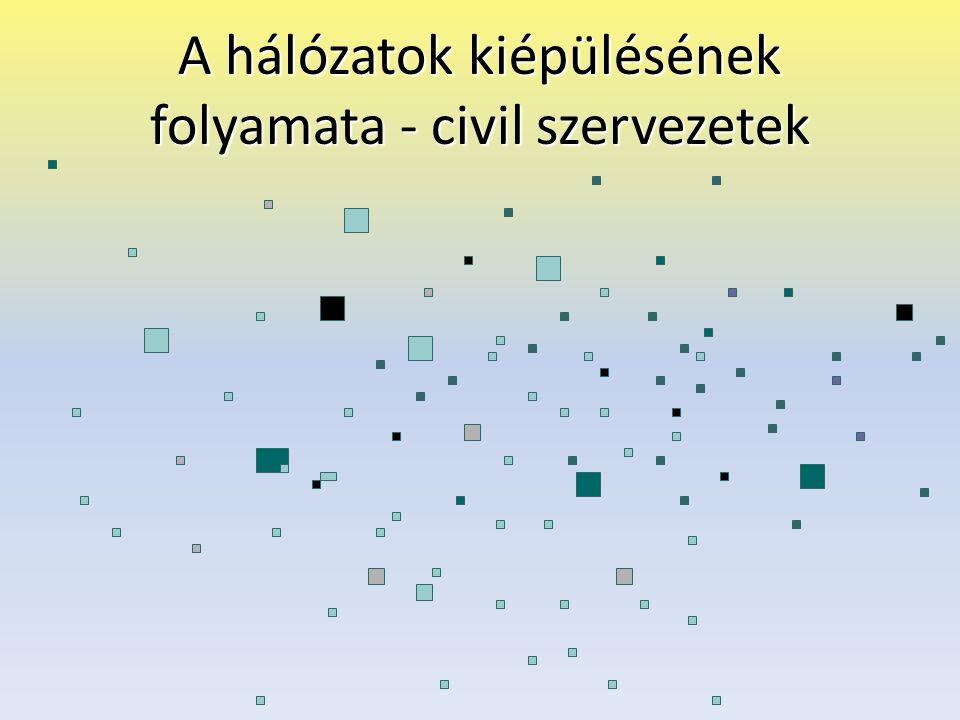 A hálózatok kiépülésének folyamata - civil szervezetek