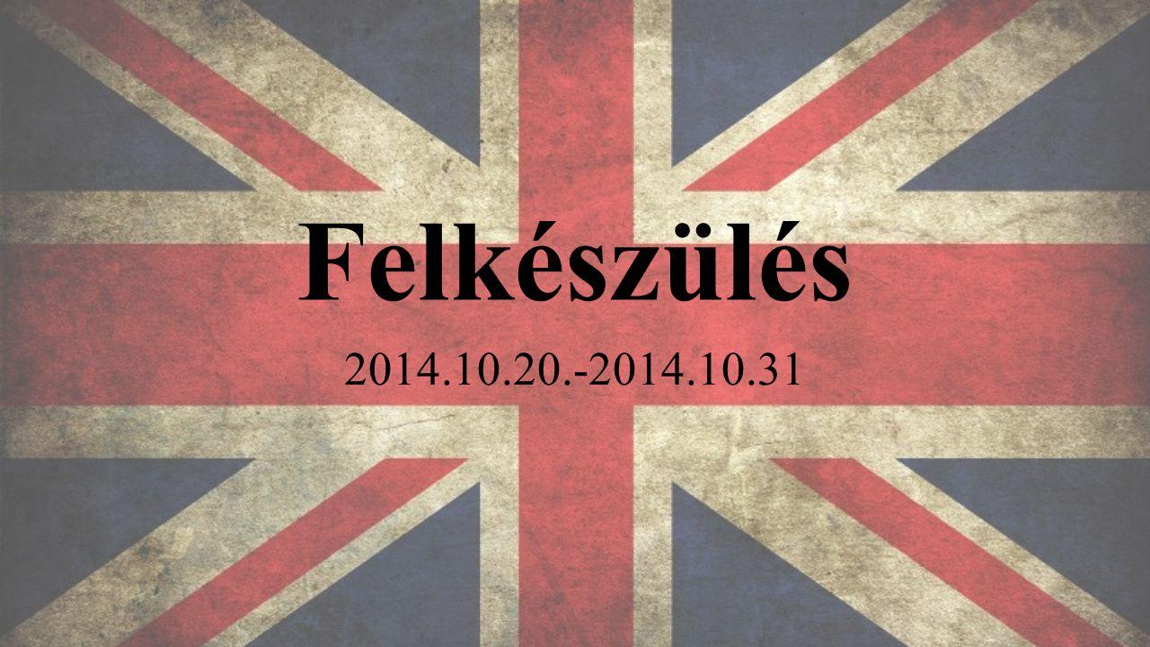 Felkészülés 2014.10.20.-2014.10.31