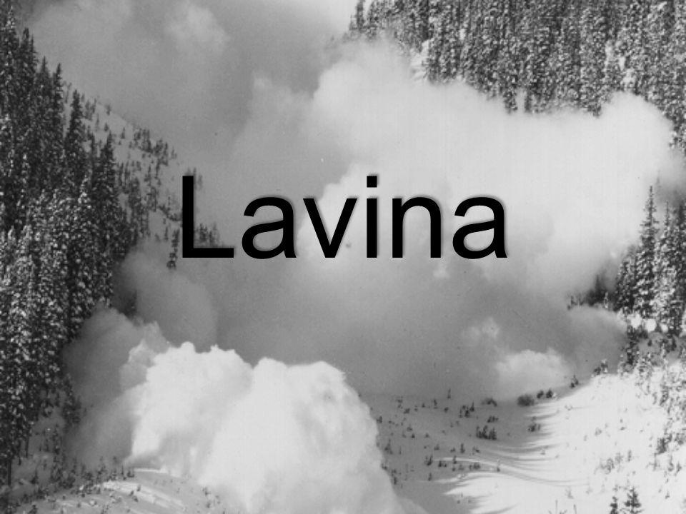 Lavina: hósuvadás, hegyoldalról egyensúlyvesztés miatt leomló hótömeg