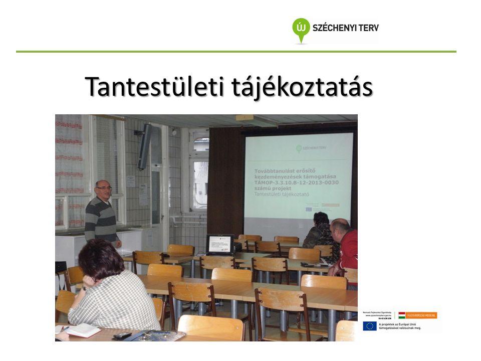Tantestületi tájékoztatás