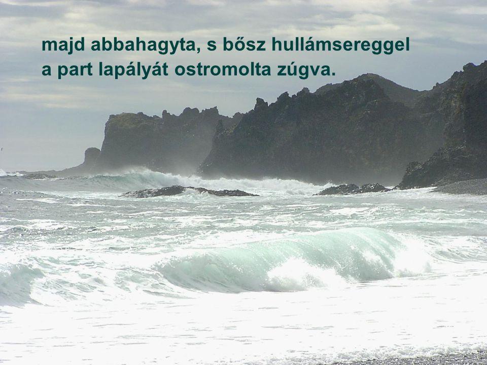Magára vonta szememet a tenger; dagadt önnönmagára tornyosulva, FAUST