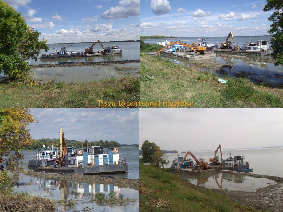 Tisza-tó partvonal rögzítése