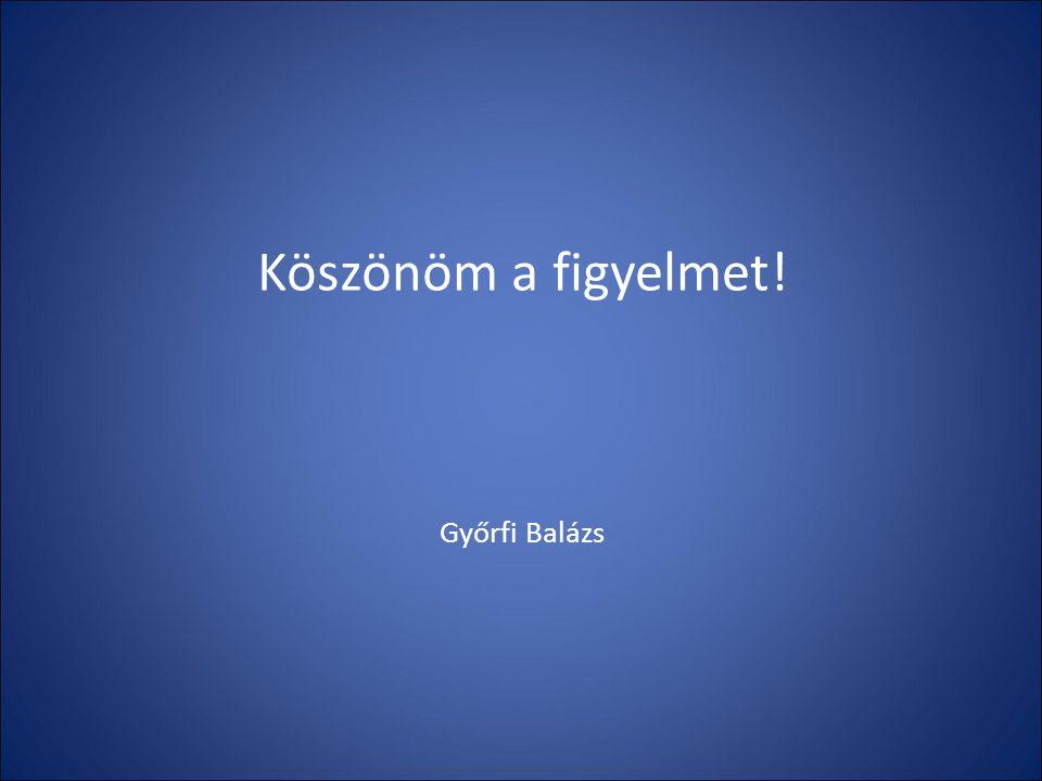 Köszönöm a figyelmet! Győrfi Balázs