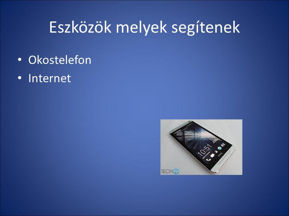 Eszközök melyek segítenek Okostelefon Internet