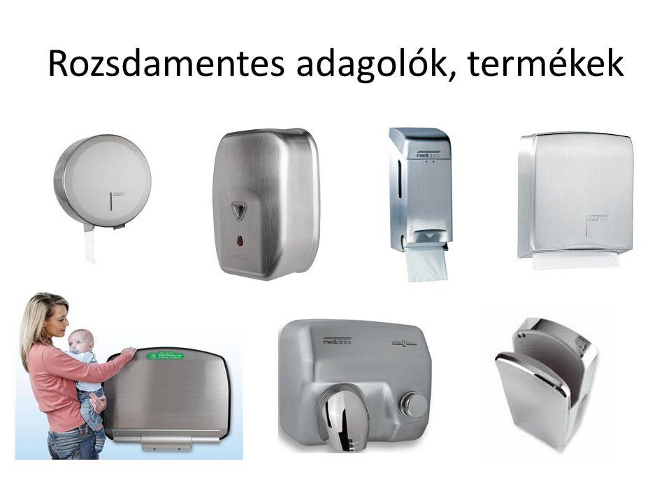 Rozsdamentes adagolók, termékek