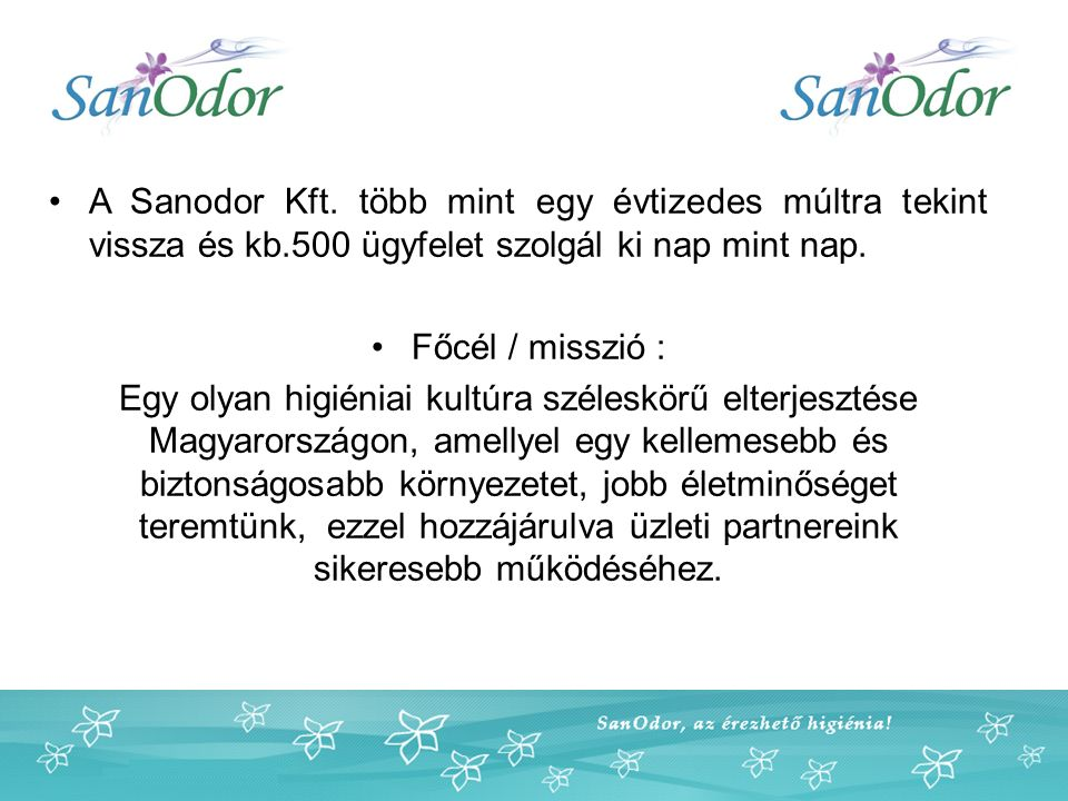 A Sanodor Kft.
