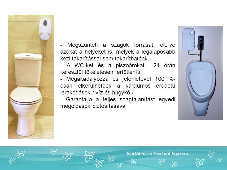 - Megszünteti a szagok forrását, elérve azokat a helyeket is, melyek a legalaposabb kézi takarítással sem takaríthatóak.