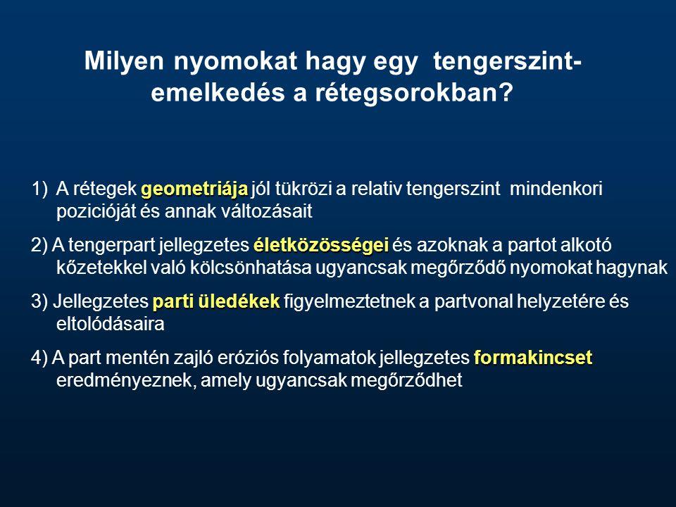 2 1 www.hydro.geosc.psu.edu Eusztatikus tengerszint- emelkedés hatása a selfen lerakódó rétegek geometriájára (számítógépes modell-futtatás eredménye)