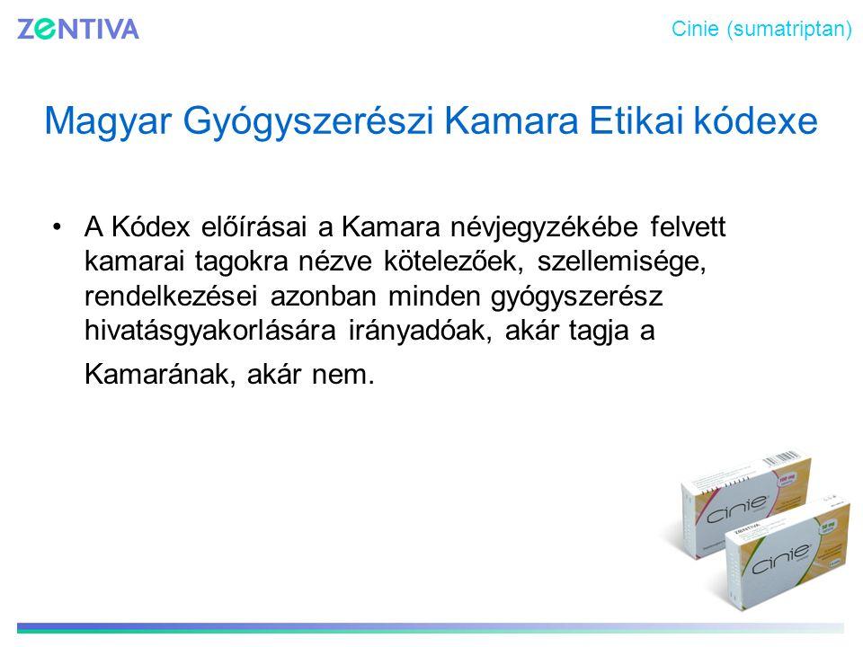 Magyar Gyógyszerészi Kamara Etikai kódexe A Kódex előírásai a Kamara névjegyzékébe felvett kamarai tagokra nézve kötelezőek, szellemisége, rendelkezés