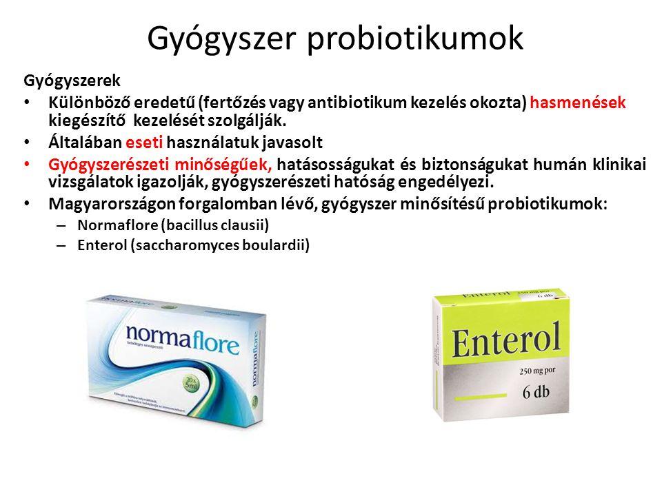 Gyógyszer probiotikumok Gyógyszerek Különböző eredetű (fertőzés vagy antibiotikum kezelés okozta) hasmenések kiegészítő kezelését szolgálják.