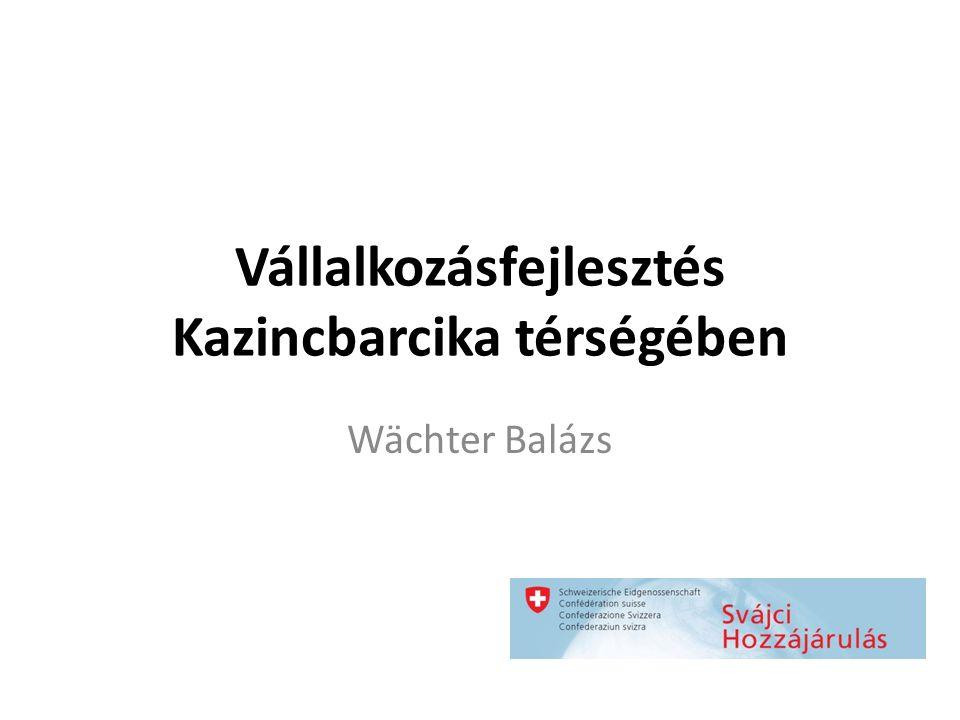 Vállalkozásfejlesztés Kazincbarcika térségében Wächter Balázs