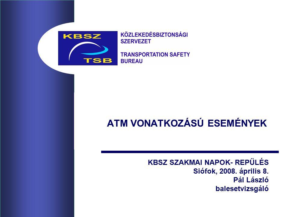 ATM VONATKOZÁSÚ ESEMÉNYEK KBSZ SZAKMAI NAPOK- REPÜLÉS Siófok, 2008.