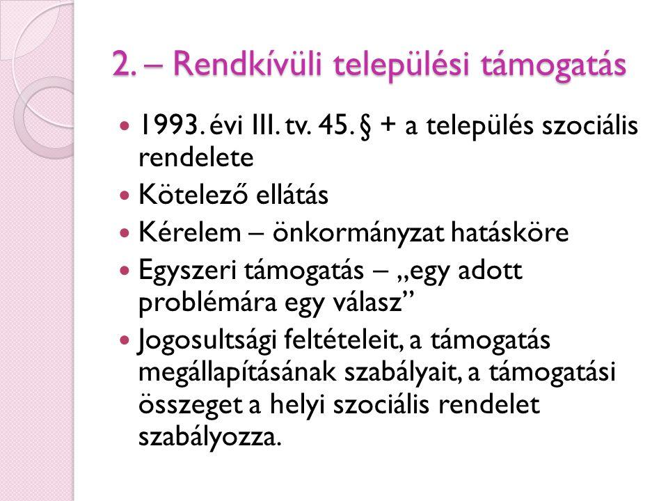2.– Egészségügyi szolgáltatásra való jogosultság 1993.