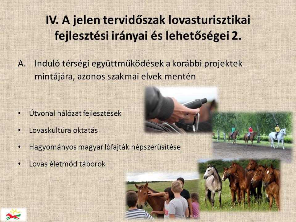 IV.A jelen tervidőszak lovasturisztikai fejlesztési irányai és lehetőségei 2.