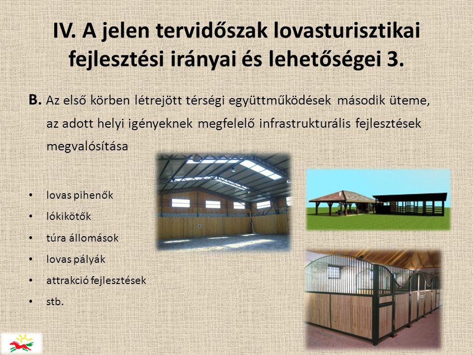 IV.A jelen tervidőszak lovasturisztikai fejlesztési irányai és lehetőségei 3.