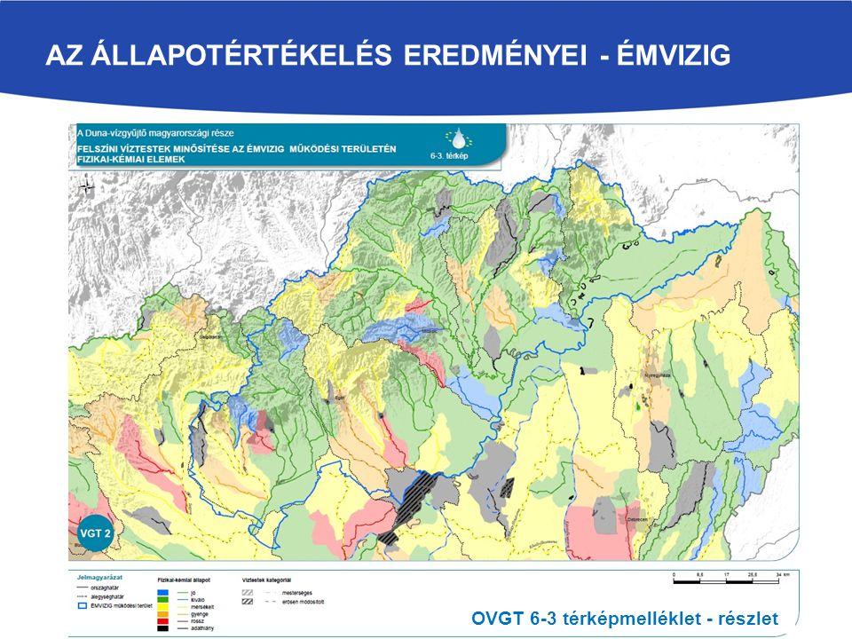 AZ ÁLLAPOTÉRTÉKELÉS EREDMÉNYEI - ÉMVIZIG OVGT 6-3 térképmelléklet - részlet