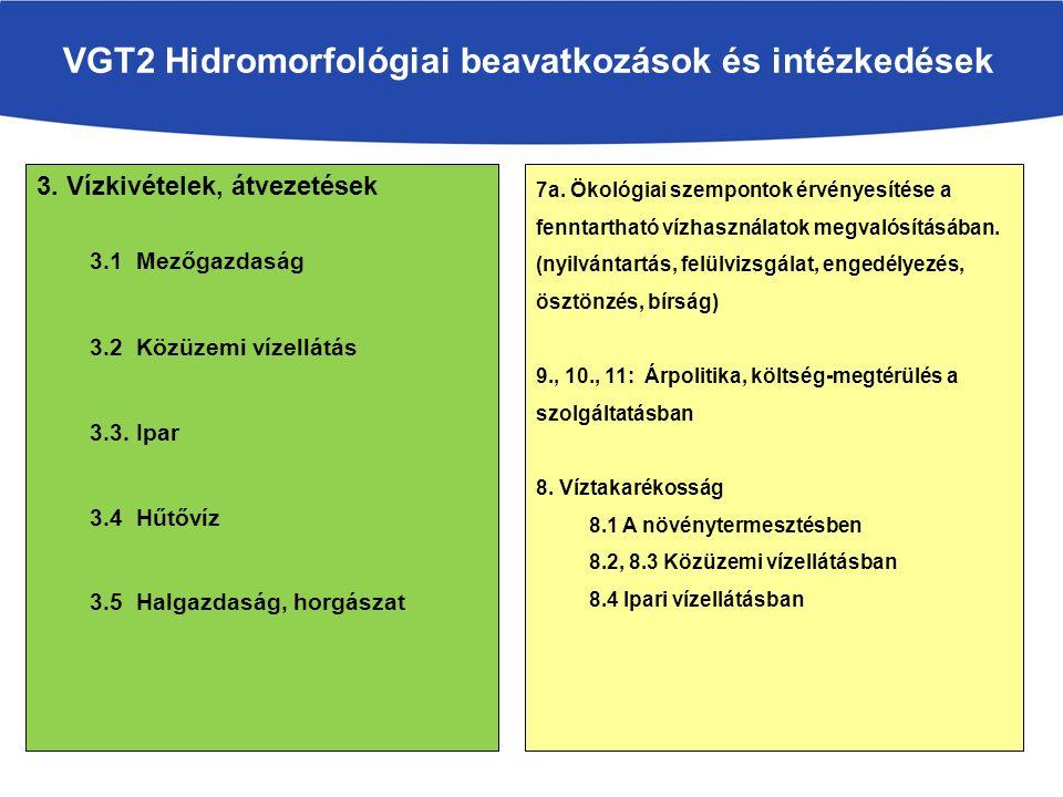 VGT2 Hidromorfológiai beavatkozások és intézkedések 3.