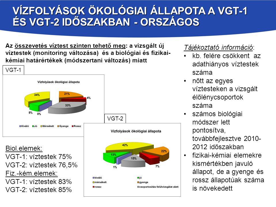 VGT2 HIDROMORFOLÓGIAI ELVÁLTOZÁSOK ENYHÍTÉSÉRE IRÁNYULÓ INTÉZKEDÉSEK 4.1.