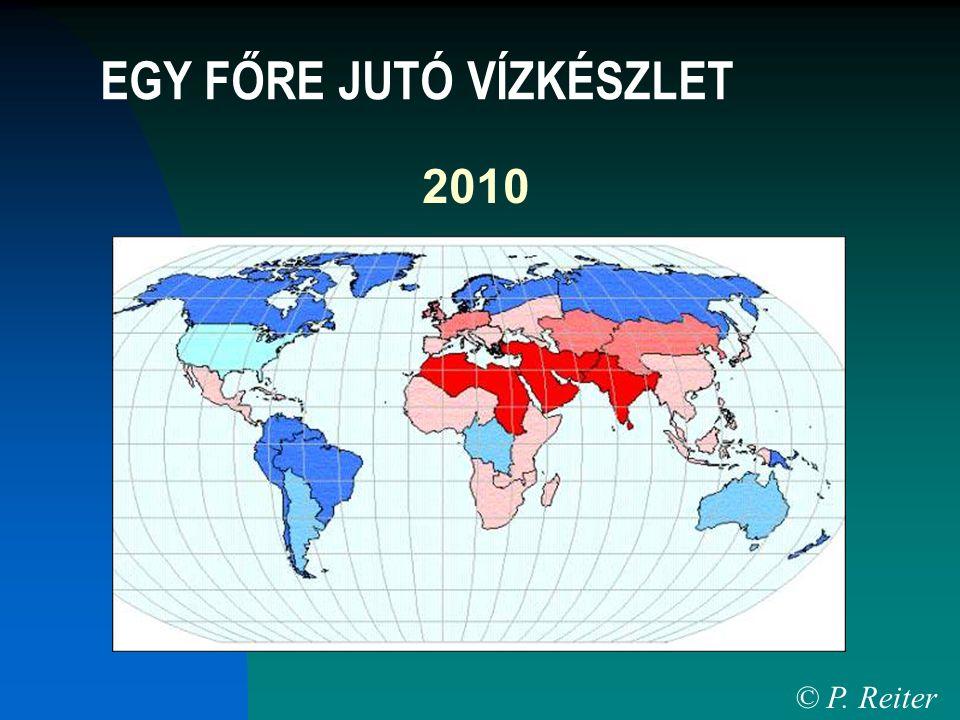 2010 © P. Reiter EGY FŐRE JUTÓ VÍZKÉSZLET