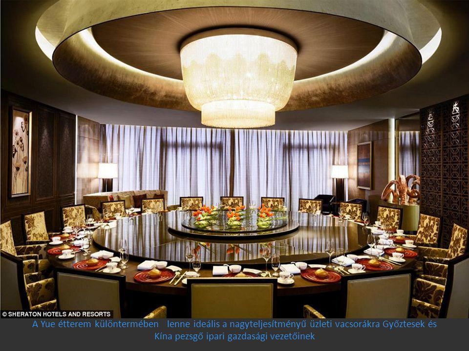 A Yue étterem különtermében lenne ideális a nagyteljesítményű üzleti vacsorákra Győztesek és Kína pezsgő ipari gazdasági vezetőinek