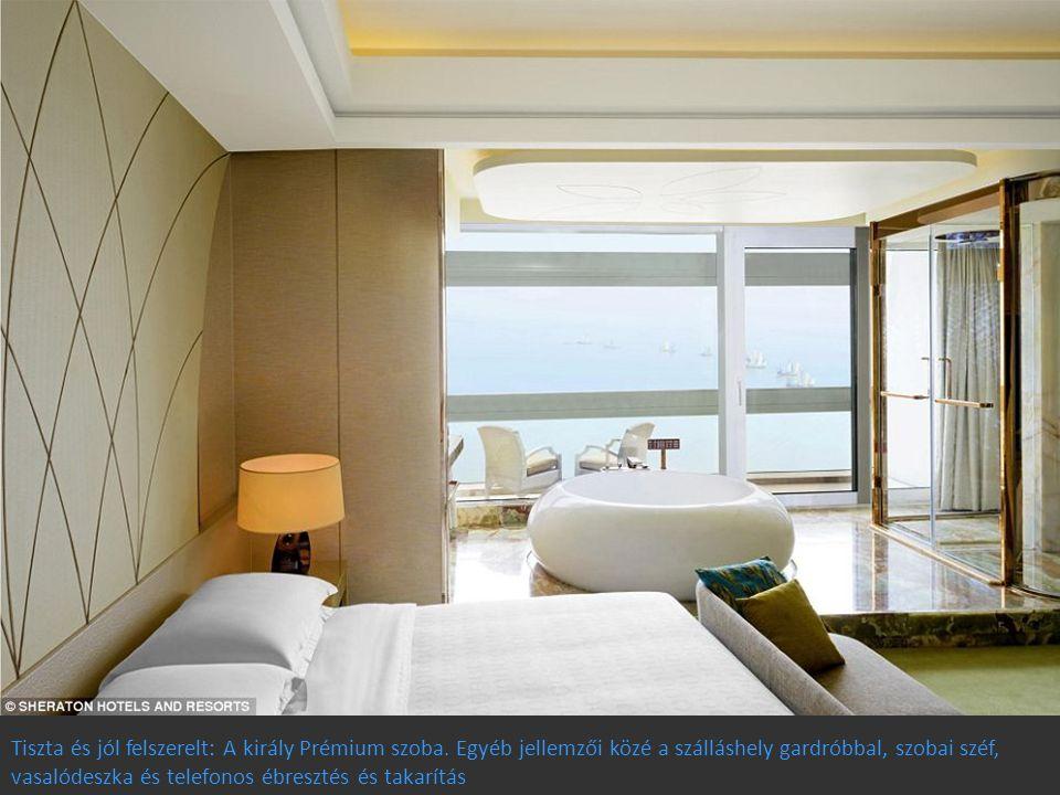 Tiszta és jól felszerelt: A király Prémium szoba. Egyéb jellemzői közé a szálláshely gardróbbal, szobai széf, vasalódeszka és telefonos ébresztés és t