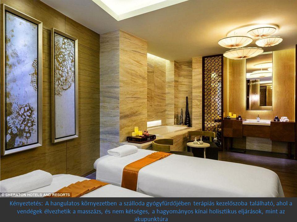 Kényeztetés: A hangulatos környezetben a szálloda gyógyfürdőjében terápiás kezelőszoba található, ahol a vendégek élvezhetik a masszázs, és nem kétség