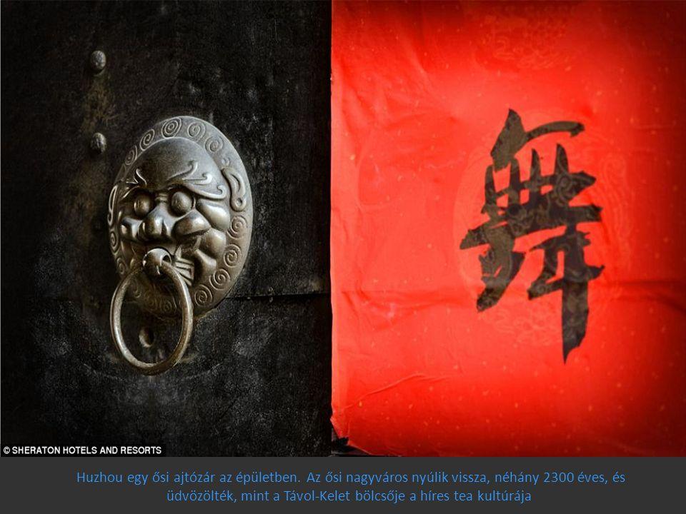 Huzhou egy ősi ajtózár az épületben. Az ősi nagyváros nyúlik vissza, néhány 2300 éves, és üdvözölték, mint a Távol-Kelet bölcsője a híres tea kultúráj