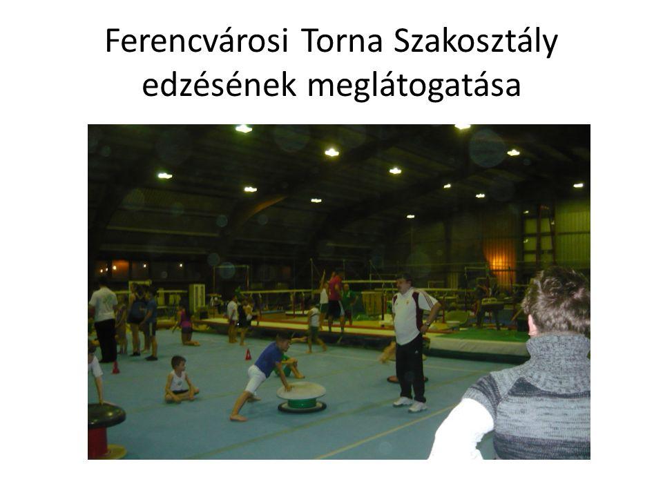 Ferencvárosi Torna Szakosztály edzésének meglátogatása