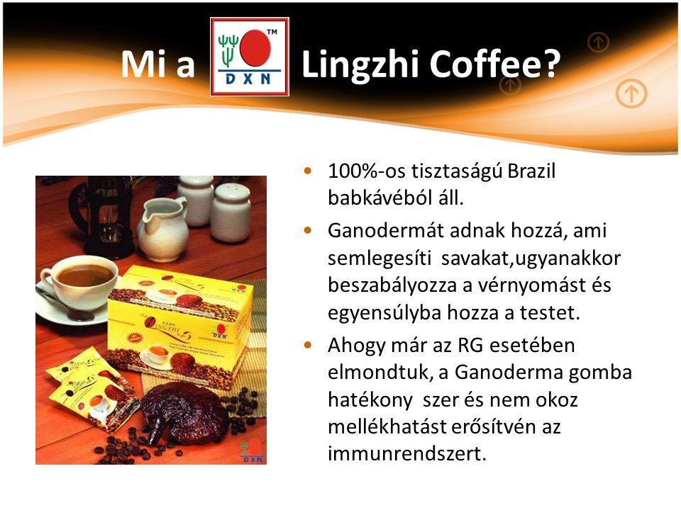 Mi a Lingzhi Coffee? 100%-os tisztaságú Brazil babkávéból áll. Ganodermát adnak hozzá, ami semlegesíti savakat,ugyanakkor beszabályozza a vérnyomást é