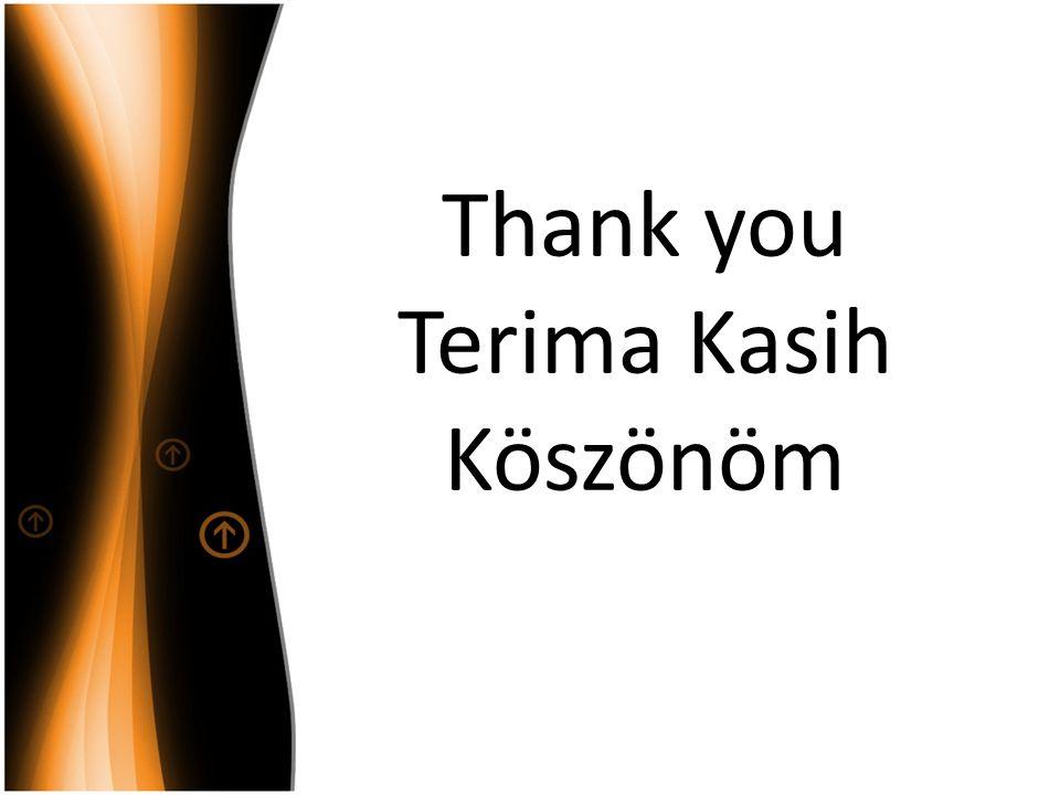 Thank you Terima Kasih Köszönöm