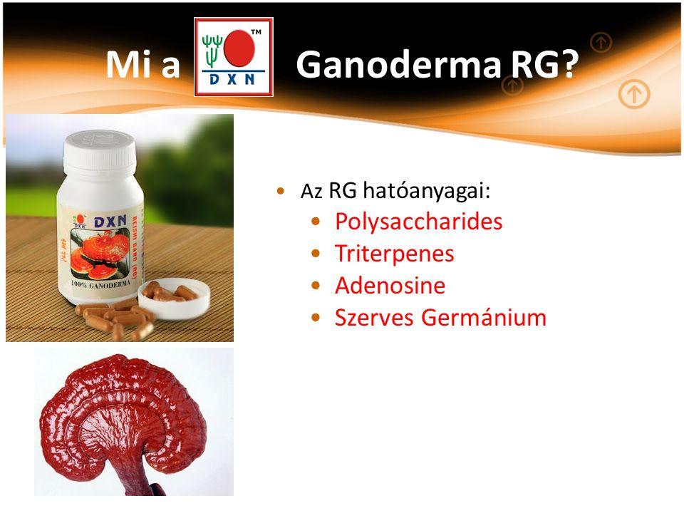 Az RG hatóanyagai: Polysaccharides Triterpenes Adenosine Szerves Germánium Mi a Ganoderma RG?
