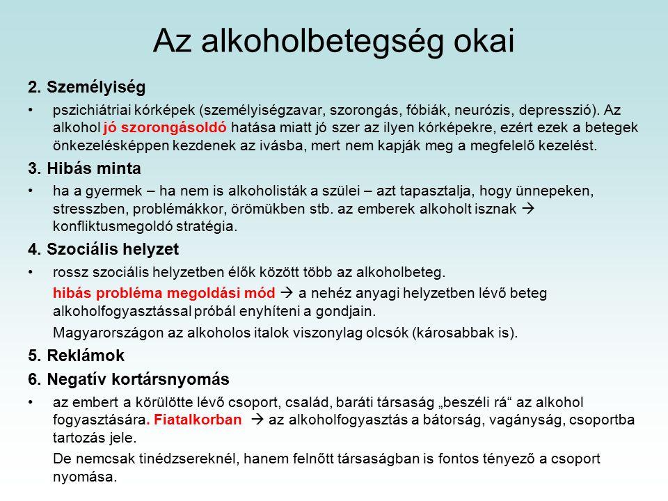 2.Személyiség pszichiátriai kórképek (személyiségzavar, szorongás, fóbiák, neurózis, depresszió).