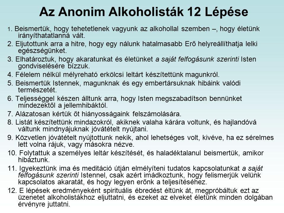 Az Anonim Alkoholisták 12 Lépése 1.