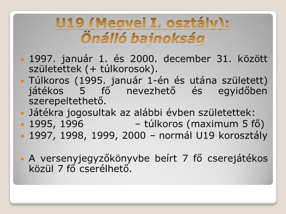 1997. január 1. és 2000. december 31. között születettek (+ túlkorosok).