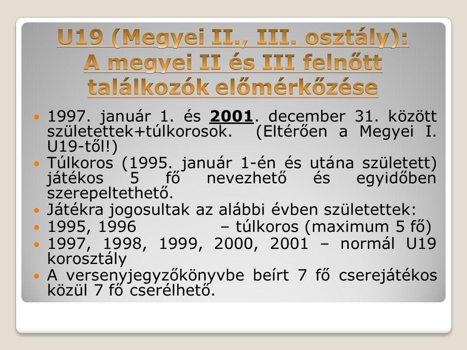 1997. január 1. és 2001. december 31. között születettek+túlkorosok.