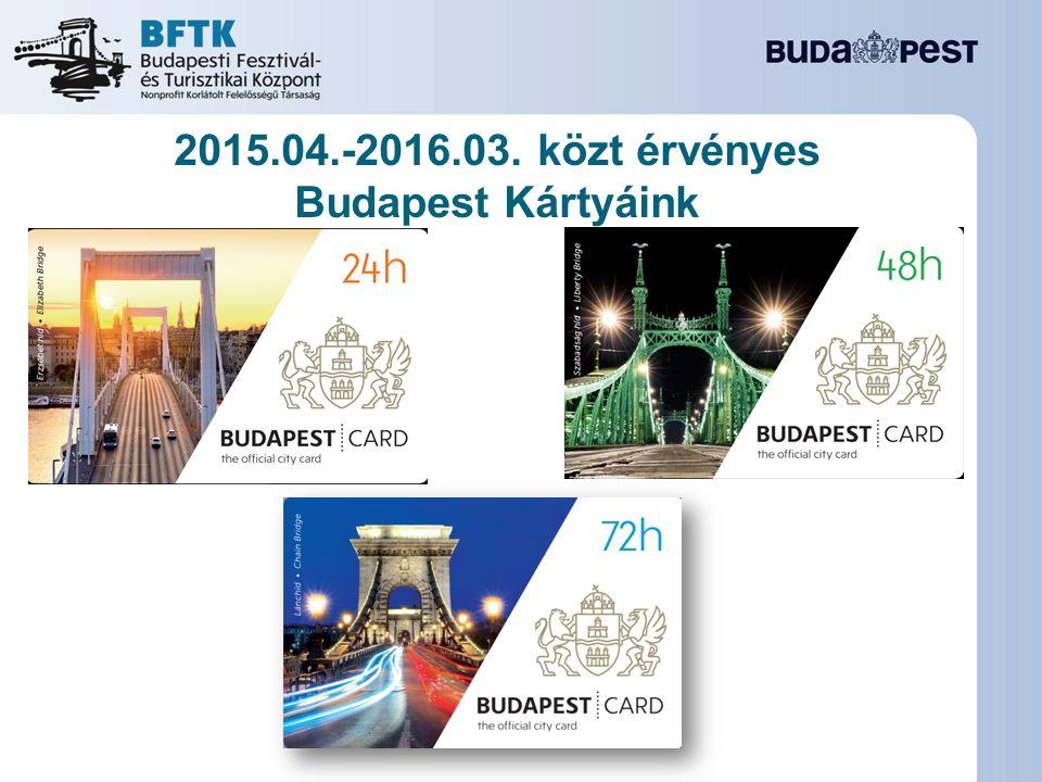 2015.04.-2016.03. közt érvényes Budapest Kártyáink