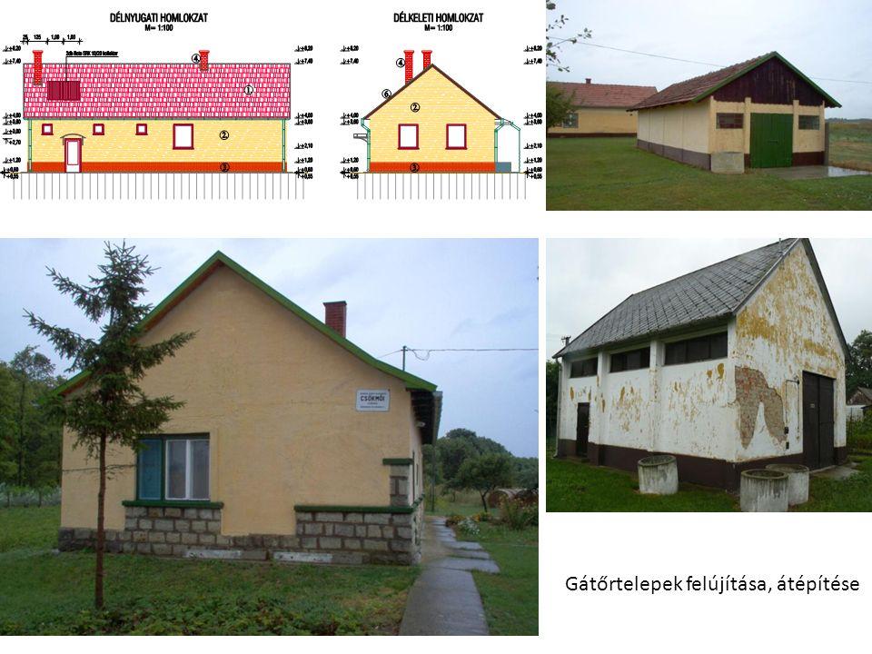 Gátőrtelepek felújítása, átépítése