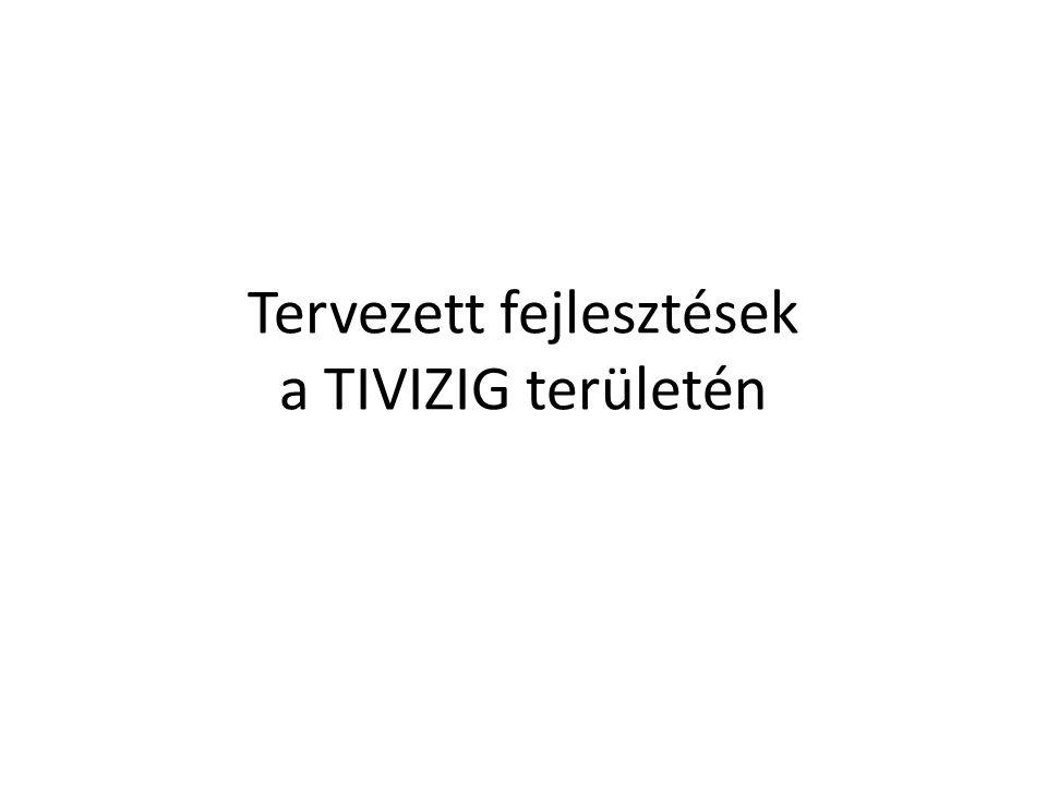 Tervezett fejlesztések a TIVIZIG területén
