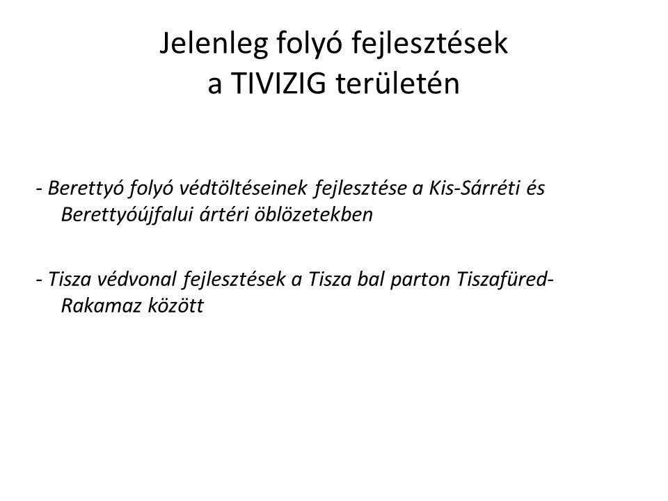Jelenleg folyó fejlesztések a TIVIZIG területén - Berettyó folyó védtöltéseinek fejlesztése a Kis-Sárréti és Berettyóújfalui ártéri öblözetekben - Tis