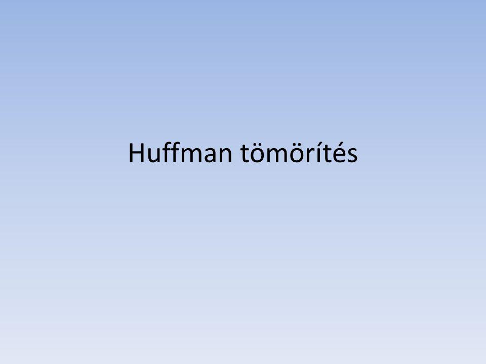 Huffman tömörítés