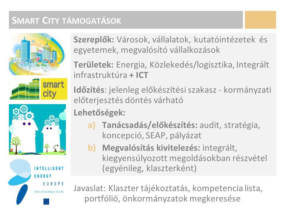 J AVASLATOK 1.Klaszterben meglévő ötletek felmérése 2.Pályázati akcióterv készítése – munkacsoportok kialakítása 3.Projekt ötletek projekt koncepcióvá alakítása (ktgvetés, célok, eredmények, 4.Partnerek megtalálása / egyeztetés kiírókkal 5.Megfelelő finanszírozás – koncepcióhoz kapcsolódóan: -Hazai források -Európai Uniós források: