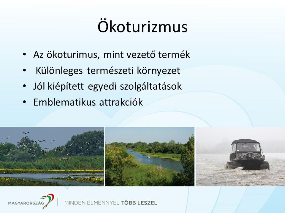 Ökoturizmus Az ökoturimus, mint vezető termék Különleges természeti környezet Jól kiépített egyedi szolgáltatások Emblematikus attrakciók