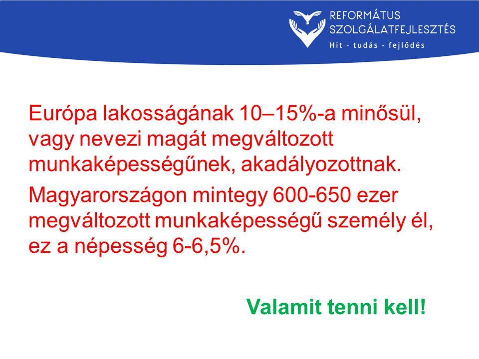 Európa lakosságának 10–15%-a minősül, vagy nevezi magát megváltozott munkaképességűnek, akadályozottnak. Magyarországon mintegy 600-650 ezer megváltoz