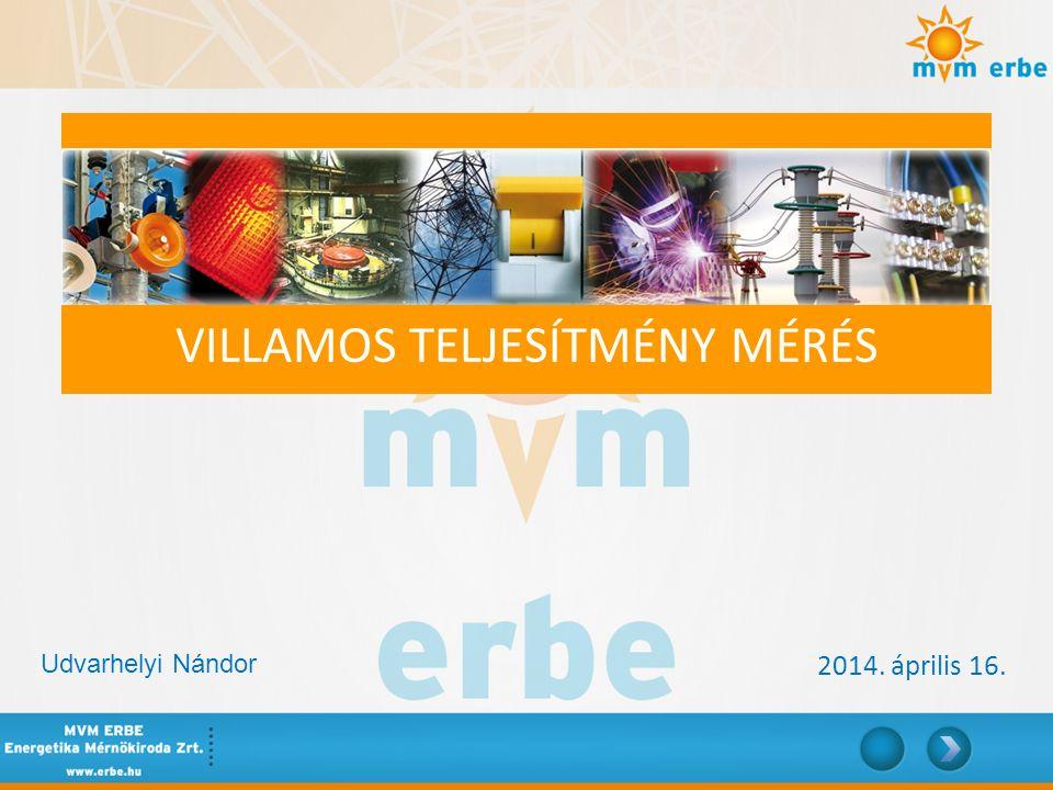 Villamos teljesítmény mérés: