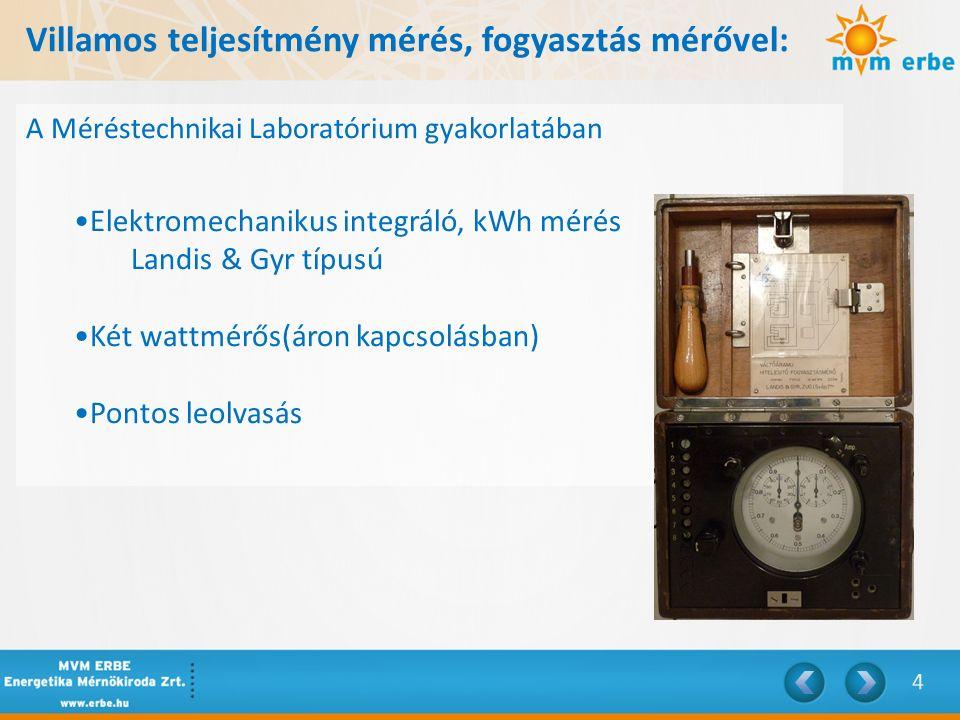 Villamos teljesítmény mérés, fogyasztás mérővel: Áron kapcsolás
