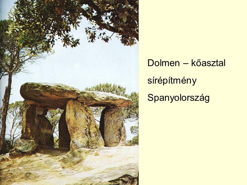 Dolmen – kőasztal sírépítmény Spanyolország