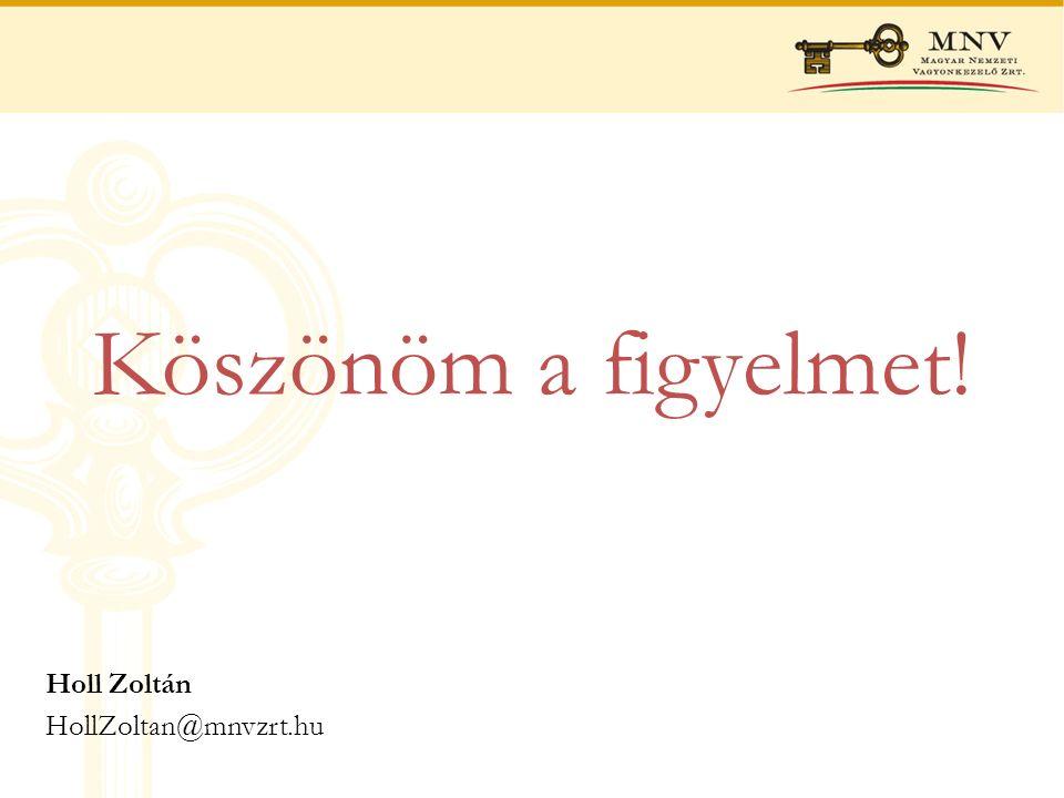 Köszönöm a figyelmet! Holl Zoltán HollZoltan@mnvzrt.hu